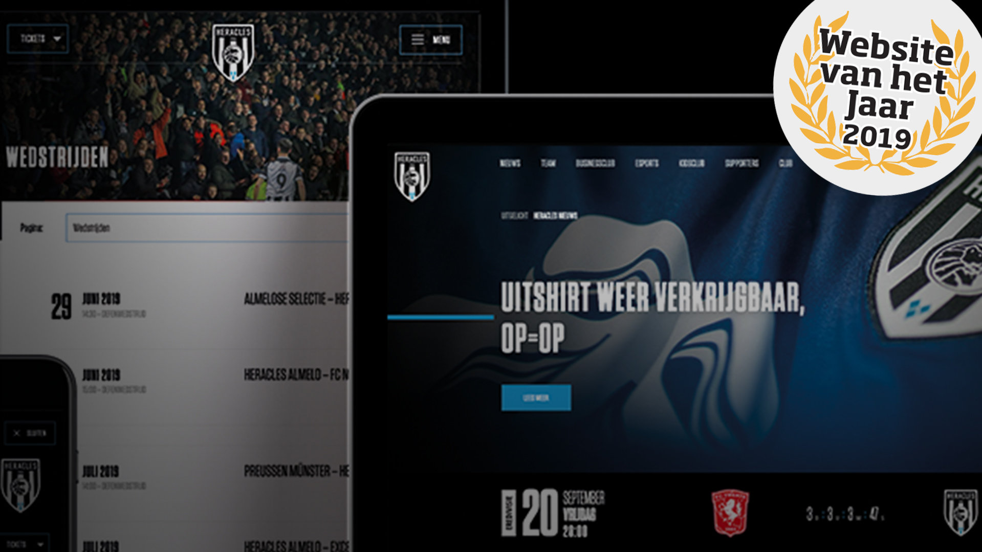 Heracles Almelo is in the running to win website of the year