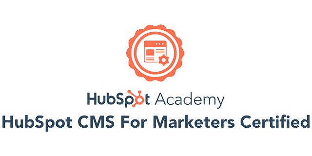 HubSpot CMS For Marketers Certified